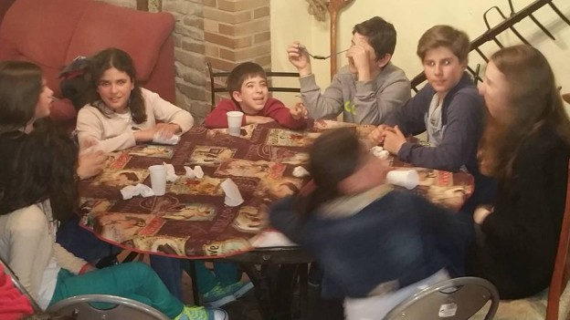 Familias con niños en huesca